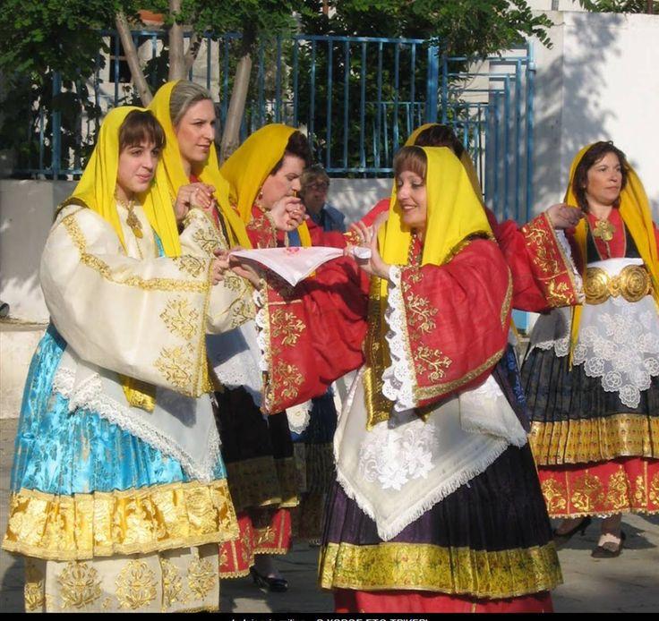 Multicolored Trikeri Dancers/Trikeri,Magnisia,Greece