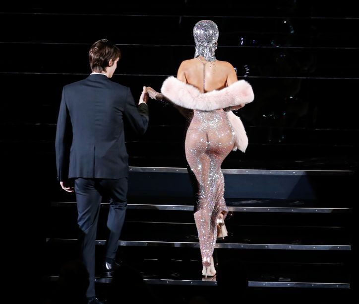 Rihanna basically showed up naked to the CFDA Awards. Yep, that happened