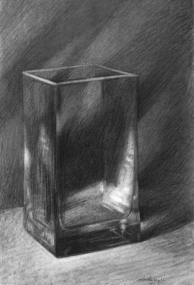charcoal drawing of glass - Google Search