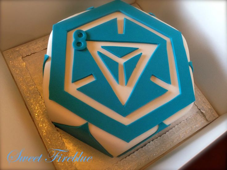 Sweet Fireblue: Ingress Cake!!