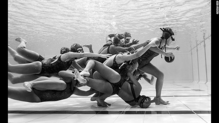 Submerged Field: Colombian photographer Camilo Diaz captured this moment during the European Junior Championship of Underwater Rugby in 2016.