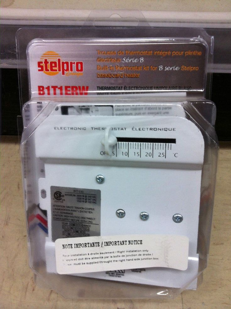 Stelpro BUILT-IN THERMOSTAT KIT FOR B SERIES BASEBOARD HEATER B1T1ERW WHITE NEW