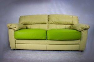 Elegant Beige Leather Sofa