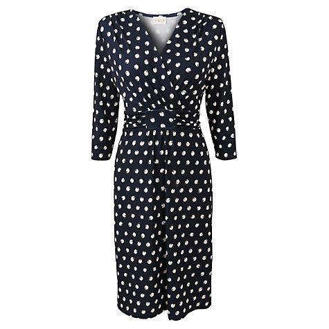 Buy East Spot Jersey Dress, Navy Online at johnlewis.com