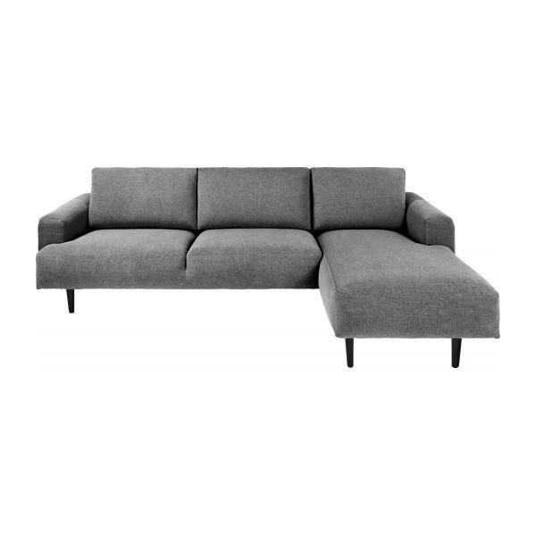 3-Sitzer-Sofa aus Stoff, Chaiselongue rechts