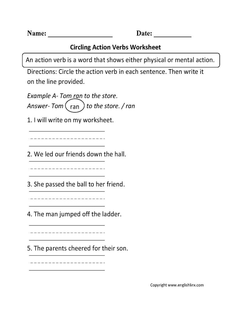 Free Printable Worksheets On Verbs For Grade 2 2 in 2020