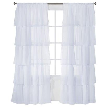 "Xhilaration® Ruffle Window Panel  - (50x84"")"