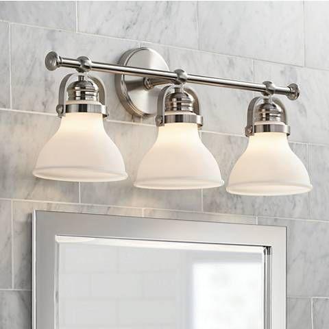 Charming Ideas Bathroom Lighting Brushed Nickel. Olsen 24  Wide 3 Light Satin Nickel Bath Best 25 Contemporary baths ideas on Pinterest Modern