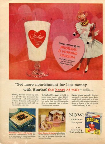1957-Borden-039-s-Starlac-Instant-Dry-Milk-Elsie-the-Cow-Print-Ad