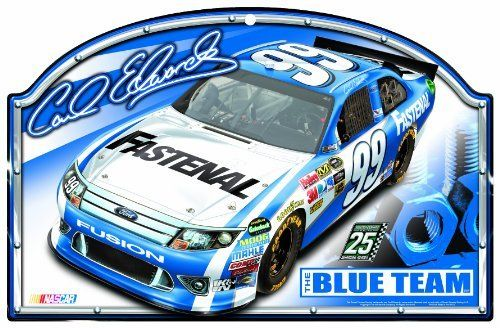 """NASCAR Carl Edwards 11-by-17 Inch Traditional Look Wood Sign by WinCraft. $19.99. Hardboard wood signs are 1/4"""" thick, decorated with quality graphics to resemble  an antique wood finish. A matte finish laminate top is added for greater durability  and a precision cut smooth edge makes this a great indoor decor sign. Made in USA"""