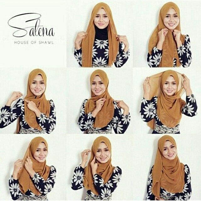 Shawl tutorial for chiffon hijab