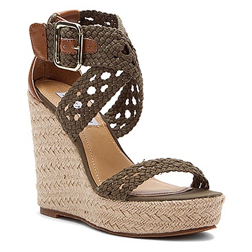 Women's Steve Madden  Magestee Khaki Fabric...I NEED WEDGES SO BADLY!