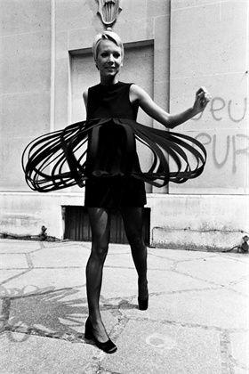 Dress Pierre Cardin  Paris, France, July 1969  ©Corbis