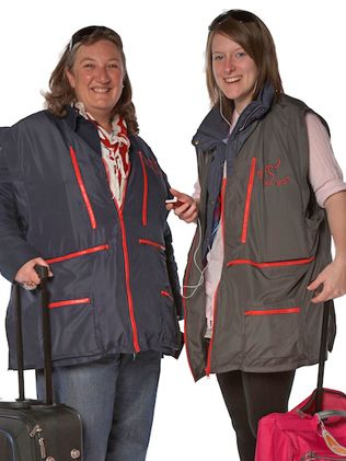 """IT may not be the most stylish of in-flight outfits but a new """"flying jacket'' could save its wearer thousands of dollars in excess baggage fees."""