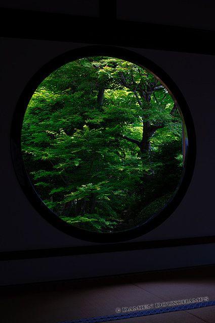 window of zen at Genko-an temple, Kyoto, Japan