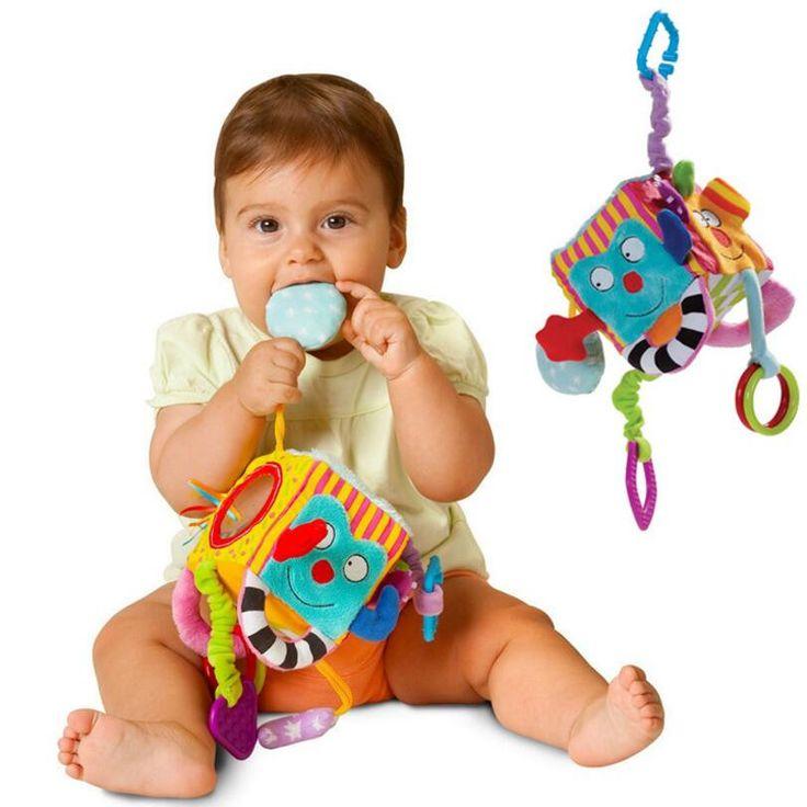 ぬいぐるみベビーベッドベッドぶら下げリング鐘ガラガラおもちゃ柔らかい赤ちゃんぬいぐるみガラガラ早期教育人形juguetes educativos
