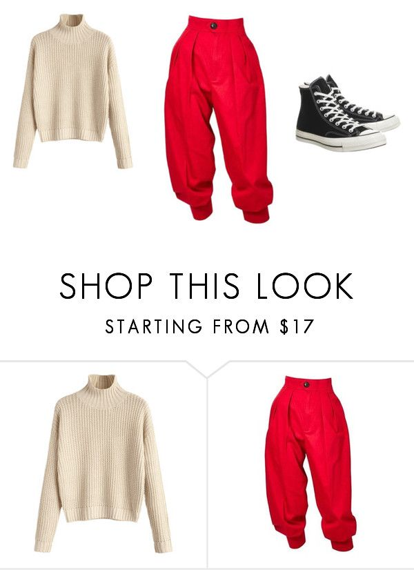 """""""Untitled #12"""" by vanessa-blomerus on Polyvore featuring Yves Saint Laurent and Converse"""