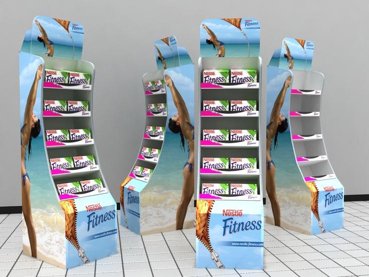 Propuesta de exhibidor de cartón para Fitnnes
