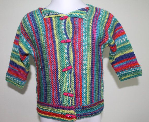 Child's cardigan with toggle buttons  Size 12 by MingoHandknits, $60.00