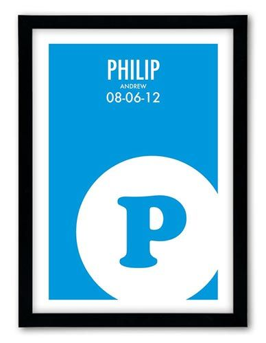 This is a very cool, contemporary personalised name print that would make a lovely addition to any nursery or child's room. Perfect for a new baby, birthdays, Christening or just for a newly decorated bedroom.