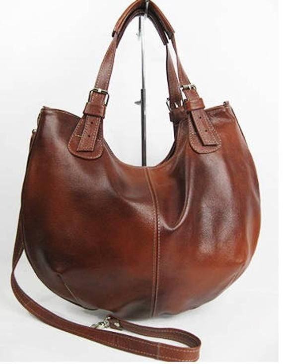 a589301fb812 LEATHER HOBO BAG Brown Cross Body Bag Leather Shoulder Bag Leather Handbag  Top Zip Bag Large Hobo ba