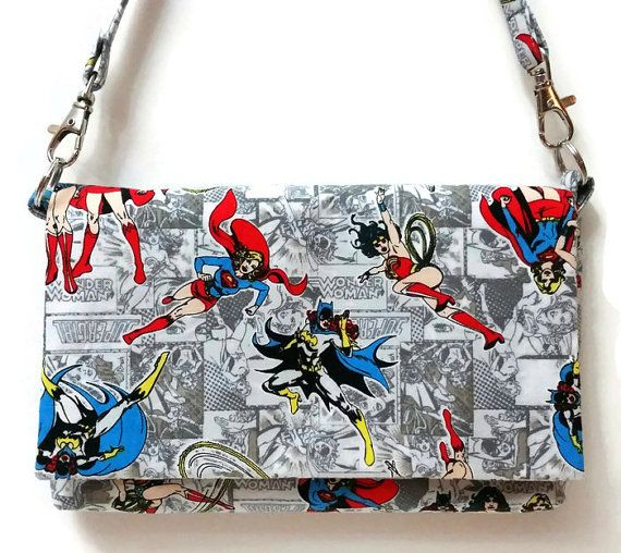 Super Girl | Wonder Woman | Bat Girl Clutch! This a great idea for a Christmas Gift