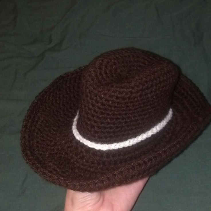 Crochet cowboy hat. I freehanded this after not finding a ...
