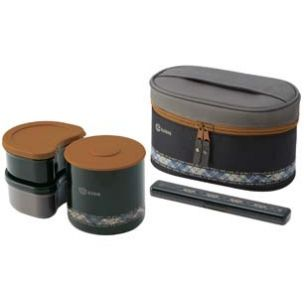 Stainless Steel Lunch Box set 840ml Black Brown Gray Stainless steel: Better! Whenever you put hot ingredients into plastic, a little bit of that plastic melts off over time into your food. That is why for microwaves, use real plates instead of plastic plates.