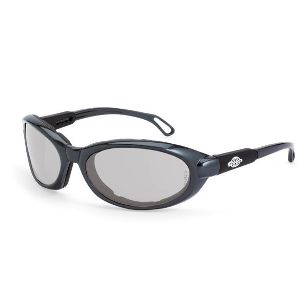 CrossFire Raptor Safety Glasses - Gray Foam Lined Frame - Indoor/Outdoor Anti-Fog Mirror Lens - This EVA foam lined safety glass has an outstanding fit and offers a great solution to environments where airborne debris is of concern. | FullSource.com