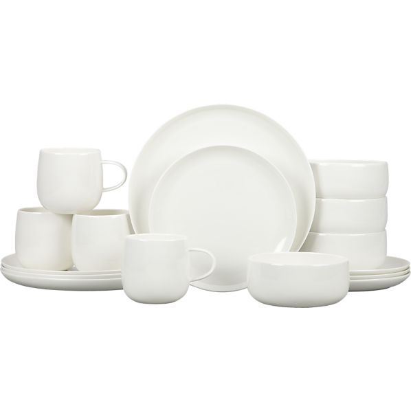 Camden Bone China 16-Piece Dinnerware Set in Dinnerware Sets | Crate and Barrel    What I a