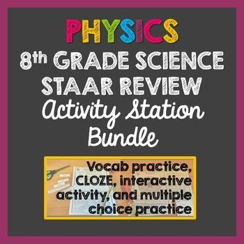 physics 8th grade science staar review stations activity bundle activities student and the o. Black Bedroom Furniture Sets. Home Design Ideas