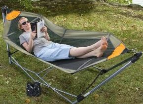 Portable Folding Hammock! It is only like $40 and I could take it to Floyd Fest, too! Birthday Present to self?