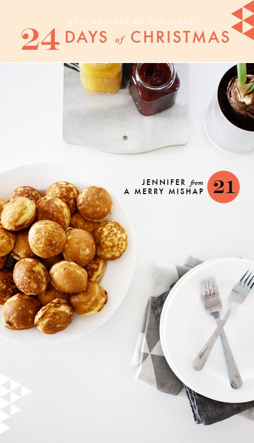 æbleskiver (danish pancakes) by @Jennifer Hagler on The House That Lars Built.: My Scandinavian Christmas day 21