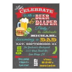 beer and diapers for dads baby shower invitation wording letu0027s celebrate with a beer and
