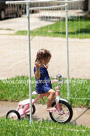 aspersores verano actividades bici