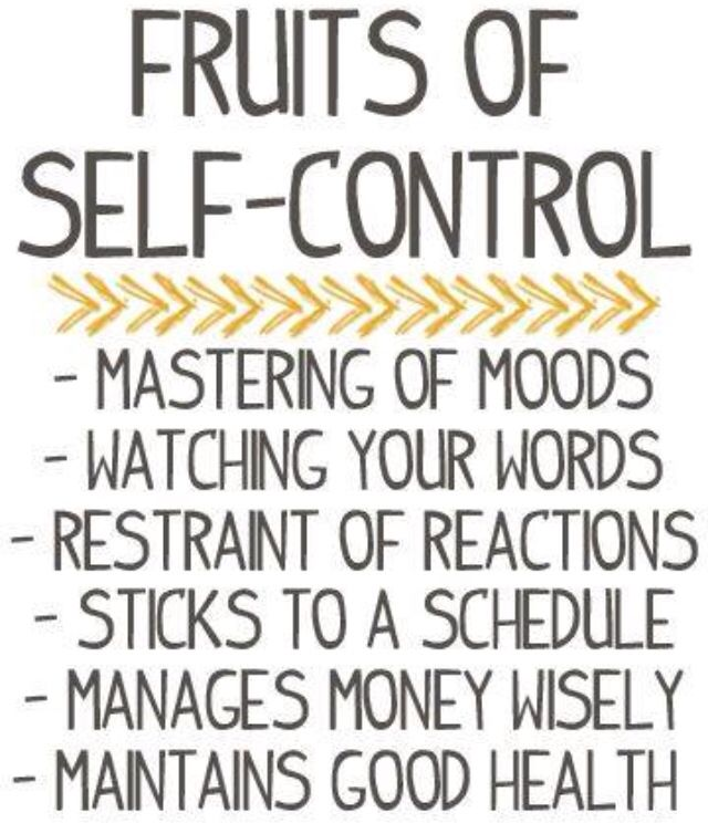 Fruits of Self-Control