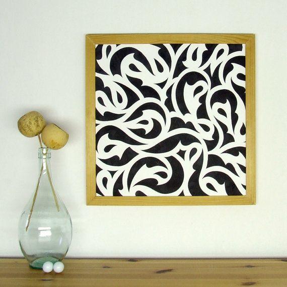 Pattern 1 original ink drawing wall art decor от smokov на Etsy