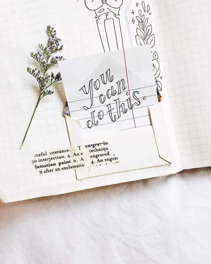 """studyrose: """"eu fiz um pequeno envelope no meu bujo e escrevi uma nota real para mim mesmo, porque eu preciso de toda a ajuda que posso obter rn"""""""