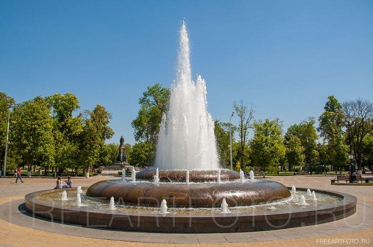 краснодар, фонтан, екатерининский сквер, городской пейзаж
