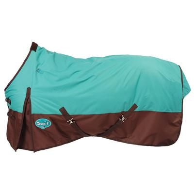 600d Waterproof Turnout Horse Blanket in Turquoise and Brown - Horse Tack from D&D Texas Outfitters