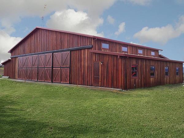 Double hung four panel hangar doors horse stuff for Double hung sliding barn doors
