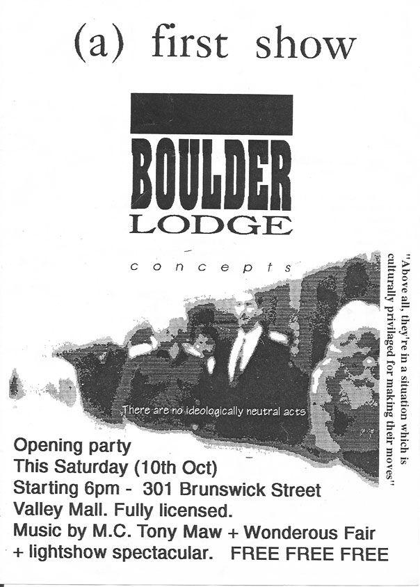 A First Show Boulder Lodge Ephemera Brisbane And