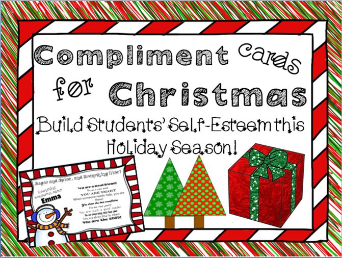 FREE Christmas Activity to improve your students' Self-Esteem!