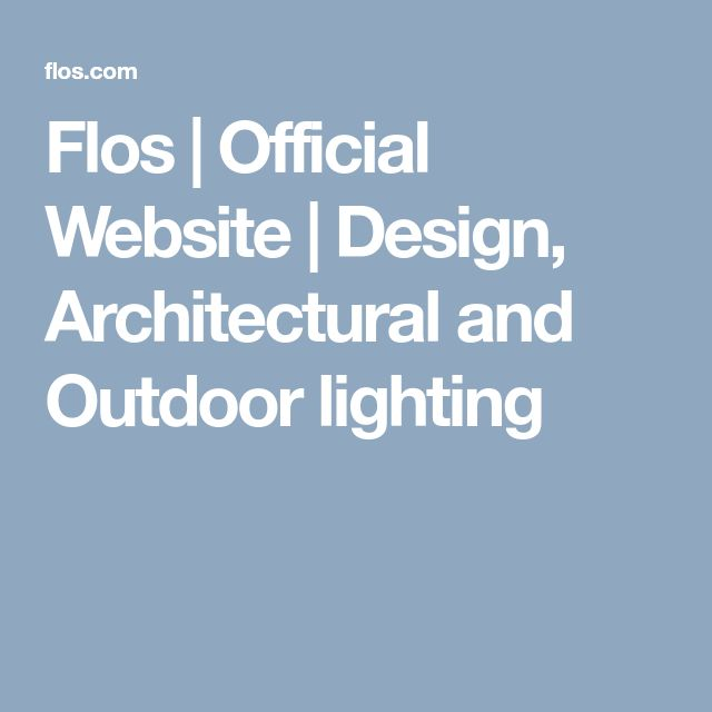 Flos official website design architectural and outdoor lighting