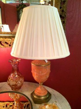 Fab Lamp With Garlands  $165  Butler Creek Antiques Dealer #8804  Lucas Street Antiques 2023 Lucas Dr. Dallas, TX 75219