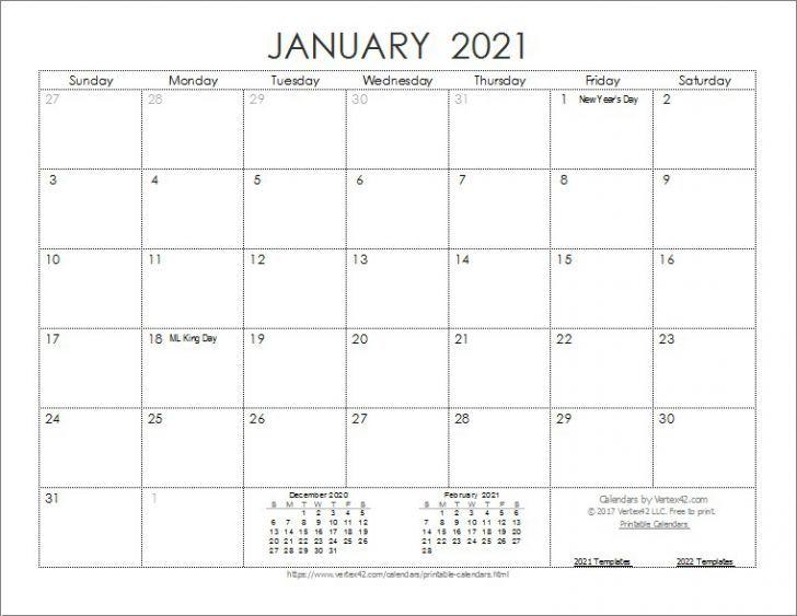 Calendar To Print 2021 Free All Months In 2020 Calendar Template Printable Calendar Template Monthly Calendar Template