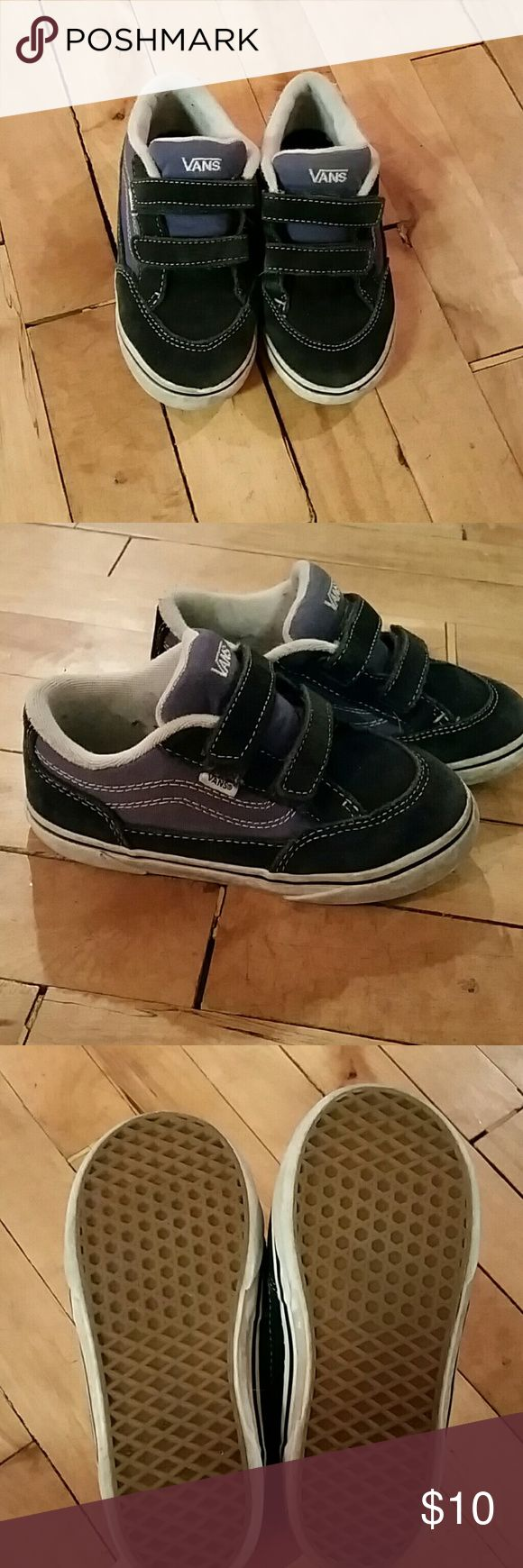 Boys Vans Boys velcro Vans size 10 toddler. From a pet friendly, smoke free home Vans Shoes Sneakers