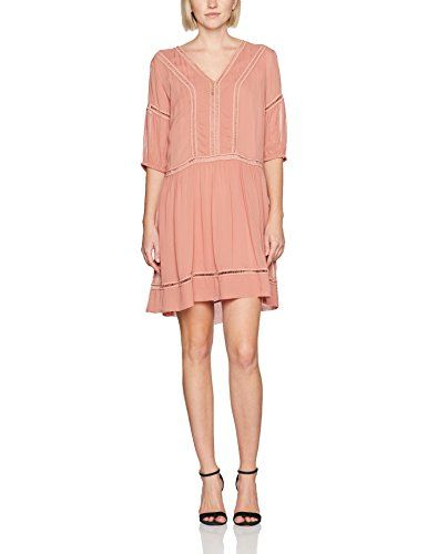 8c4bd8735501 Sisley Women s V-Neck Mini Dress (Pink 2f2) Small (Size  42 ...