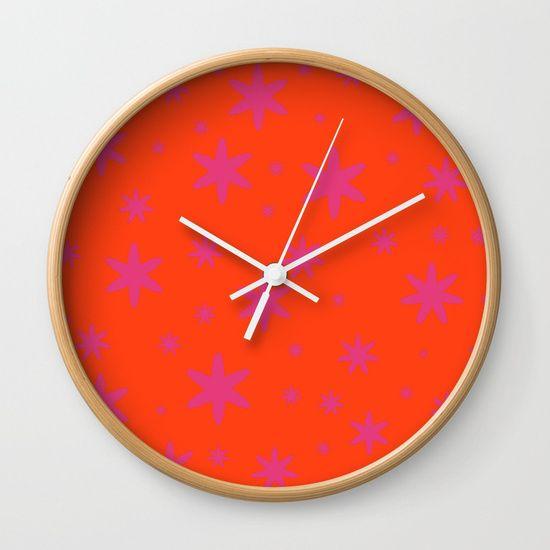 Flourish Wall Clock by Bravely Optimistic | Society6