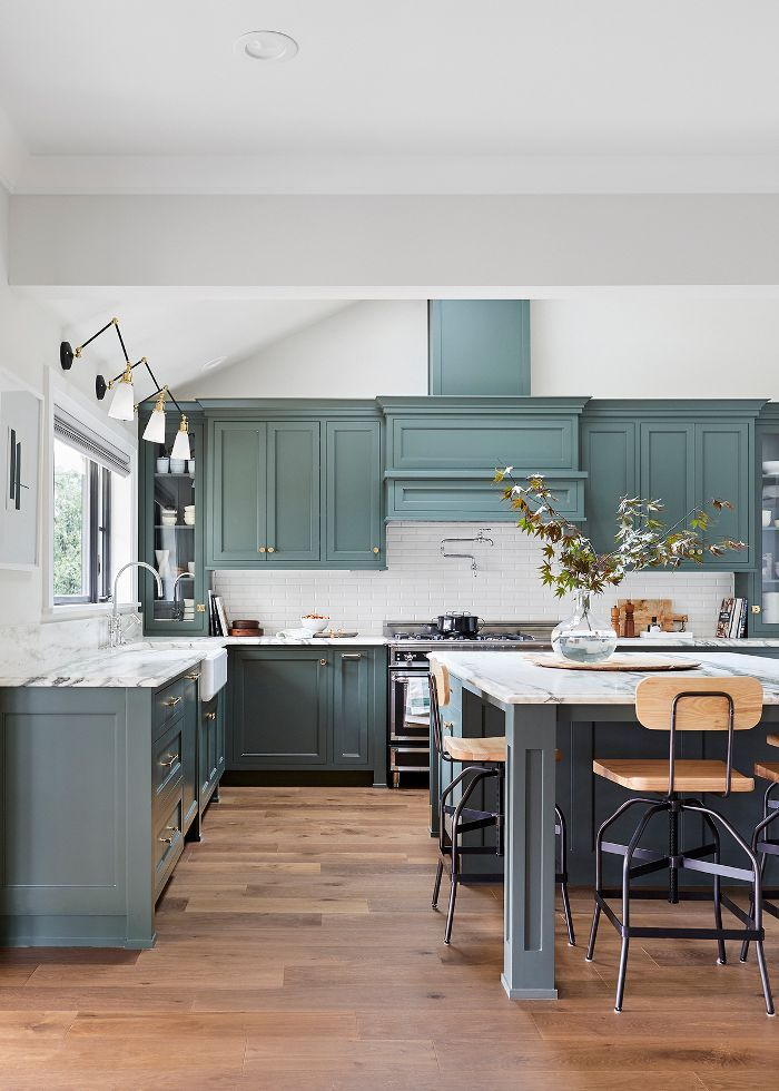We Want These Green Kitchen Cabinets Stat In 2019 Green